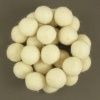 Handmade Felt Accessories - 15mm Balls - White